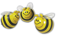 Buzzin Bee Trio (Pack of 3 Inflatable Bees)