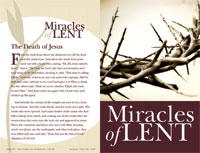 Standard Lent Bulletin: Miracles of the Passion