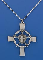 Pewter Luther's Rose Clergy Cross