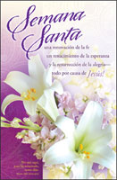 Standard Spanish Easter Bulletin: Purple with White Lilies