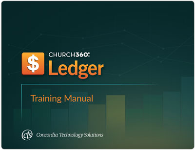 Church360 Ledger training manual cover
